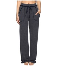Hard Tail Wide Leg Pajama Pants Past Midnight Women's Casual Pants Black