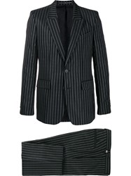 Givenchy Logo Pinstriped Suit Black