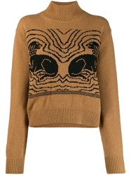 Alexachung Alexa Chung Knitted Dog Sweater Brown
