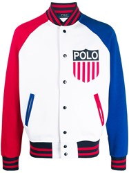 Polo Ralph Lauren Panelled Bomber Jacket White