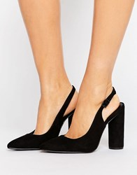 New Look Cylindrical Heeled Sling Back Shoe Black