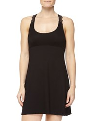 Cosabella Papyrus Short Slip Dress Black
