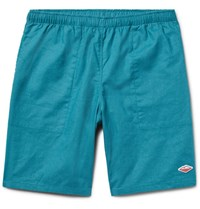Battenwear Active Lazy Linen And Cotton Blend Shorts Teal