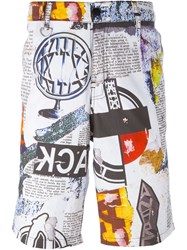 Ktz Multi Print Shorts White