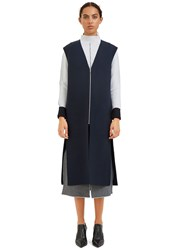 Hockin Oversized Double Faced Gillet Navy