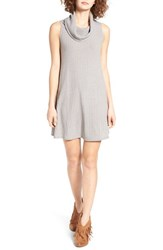 Socialite Women's Cowl Neck Shift Dress Grey