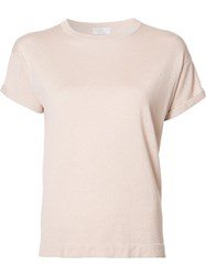 Brunello Cucinelli 'Lurex' T Shirt Pink Purple