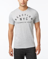 Kenneth Cole Reaction Men's Downtime T Shirt Heather Grey
