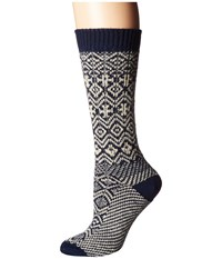 Wigwam Rorvik Navy Women's Crew Cut Socks Shoes