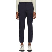 Wooyoungmi Navy Moveable Pockets Trousers
