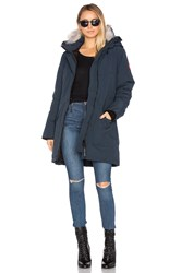 Canada Goose Trillium Parka With Coyote Fur Trim Navy