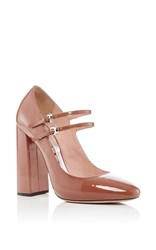 Rochas Enea Patent Leather Mary Janes Tan