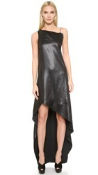 Narciso Rodriguez Sateen Dress Onyx