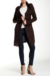 Chaudry Heart Cardigan Brown