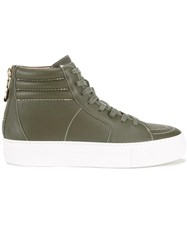 Buscemi Hi Top Sneakers Green