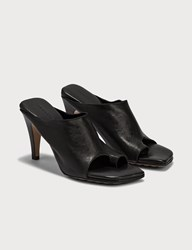 Bottega Veneta Square Toe Sandals Black
