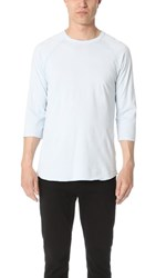 Reigning Champ Scalloped 3 4 Sleeve Tee Sky Blue
