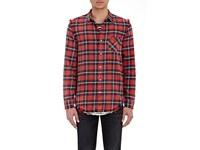 R 13 R13 Men's Plaid Inside Out Shirt Red
