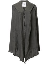 Lost And Found Rooms Sleeveless Longline Cardigan Cotton Linen Flax Grey