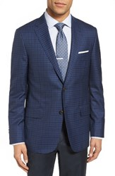 Hickey Freeman Men's Beacon Classic Fit Check Wool And Silk Sport Coat
