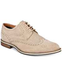 Bar Iii Men's Axel Suede Wingtip Oxfords Only At Macy's Men's Shoes Sand