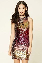 Forever 21 Sequin Bodycon Dress Silver Multi