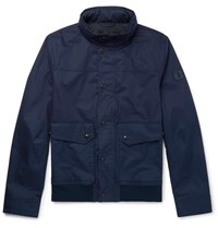 Tod's Coated Cotton Bomber Jacket Navy