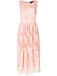 Marco Bologna Floral Embroidered Dress Pink And Purple