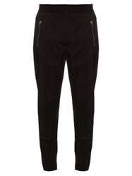 Givenchy Zip Pocket Slim Leg Wool Blend Track Pants Black
