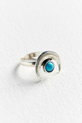 Urban Outfitters Half Moon Statement Ring Silver