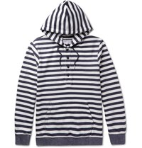 Orlebar Brown Tierney Striped Loopback Cotton Jersey Hoodie Navy