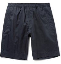 Our Legacy Cotton Gabardine Drawstring Shorts Navy