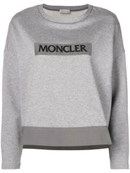 Moncler Logo Patch Sweater Grey