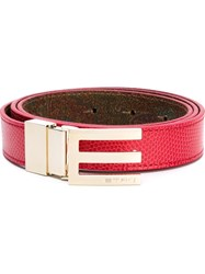 Etro E Buckle Belt Red