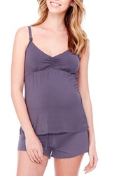 Women's Ingrid And Isabel Maternity Nursing Sleep Cami Metal