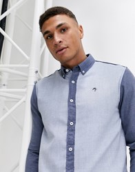 River Island Shirt With Color Blocking In Blue