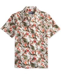 American Rag Men's Floral Print Cotton Pocket Shirt Only At Macy's Bright White Cb