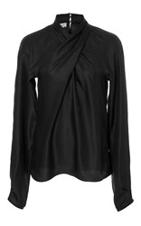 Temperley London Seahright Ruffle Blouse Black