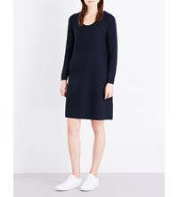 The White Company Scoop Neck Knitted Dress Navy