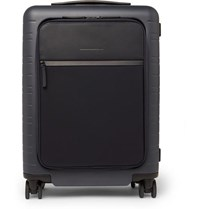 Horizn Studios M5 55Cm Polycarbonate Nylon And Leather Carry On Suitcase Navy