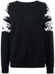 Marcelo Burlon County Of Milan Lace Applique Sweatshirt Black