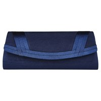 Jacques Vert Woven Effect Clutch Bag Navy