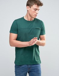 Esprit T Shirt With Cut And Sew Patch Details Green Grey