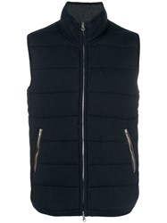 N.Peal The Mall Quilted Gilet Blue