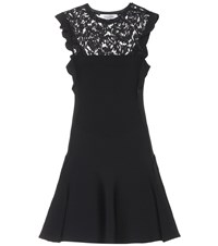 Valentino Lace Panel Minidress Black
