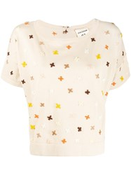 Semicouture Embroidered Knitted T Shirt 60