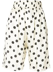 Hache Polka Dot Shorts Nude And Neutrals