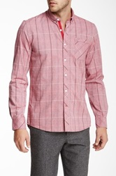 Civil Society Moby Plaid Long Sleeve Slim Fit Shirt Red