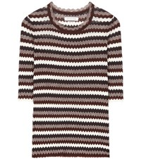 Etoile Isabel Marant Alicea Knitted Cotton Top Multicoloured