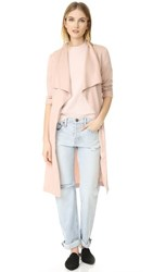 Cupcakes And Cashmere Abria Drape Front Coat Pale Pink